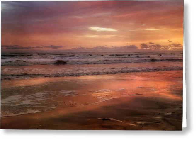 Greeting Card featuring the photograph  Florida Sunrise After A Storm - New Smyrna Beach Fl by Joann Vitali