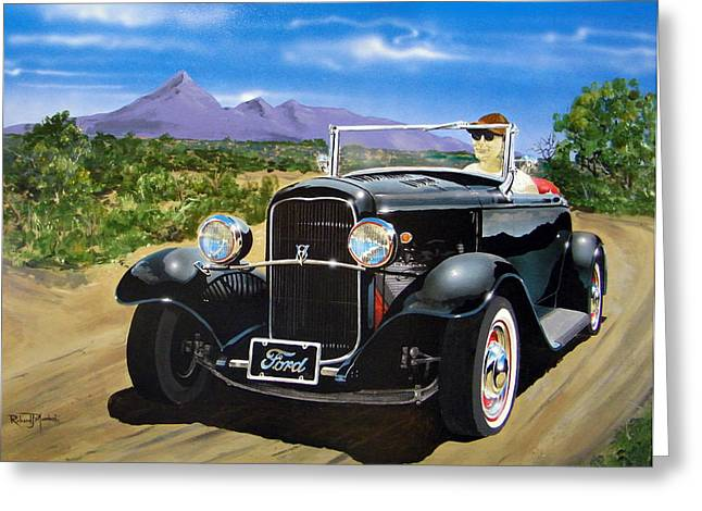 Ford Roadster Highboy Greeting Card