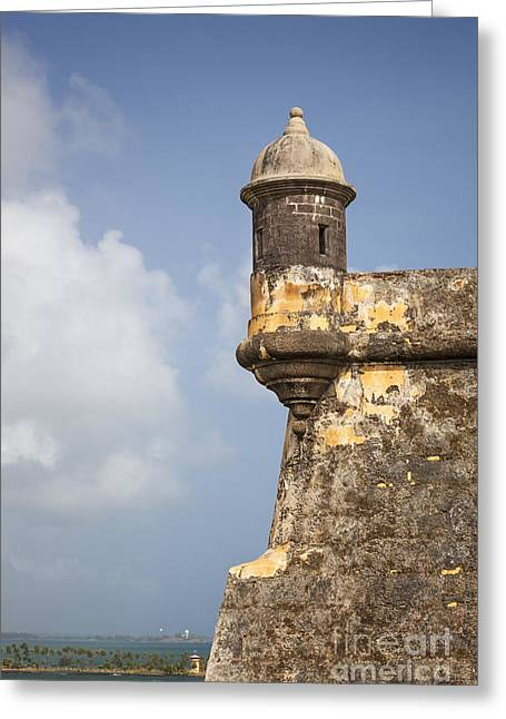 Fortified Walls And Sentry Box Of Fort San Felipe Del Morro Greeting Card