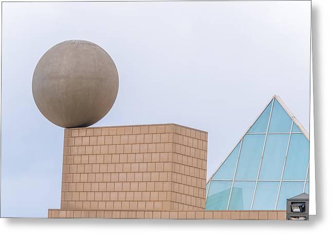 Gehrys Sphere Sculpture  Barcelona Spain  Greeting Card