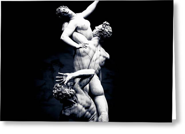 Giambologna's The Rape Of The Sabine Women Greeting Card