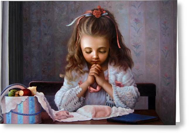 Girl's Prayer Greeting Card