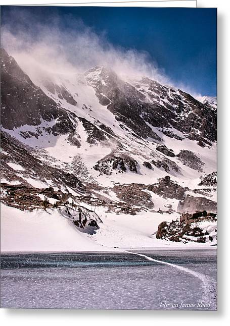Greeting Card featuring the photograph  Glass Lake by Steven Reed