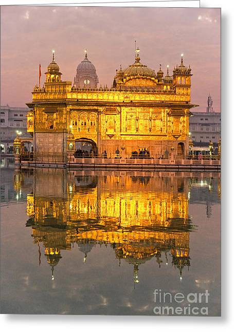 Golden Temple In Amritsar - Punjab - India Greeting Card by Luciano Mortula