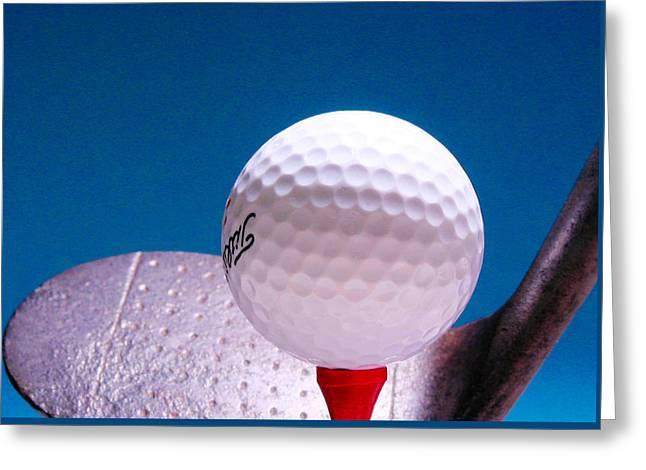 Golf Greeting Card by David and Carol Kelly