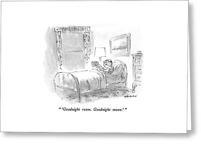 'goodnight Room. Goodnight Moon.' Greeting Card by James Stevenson
