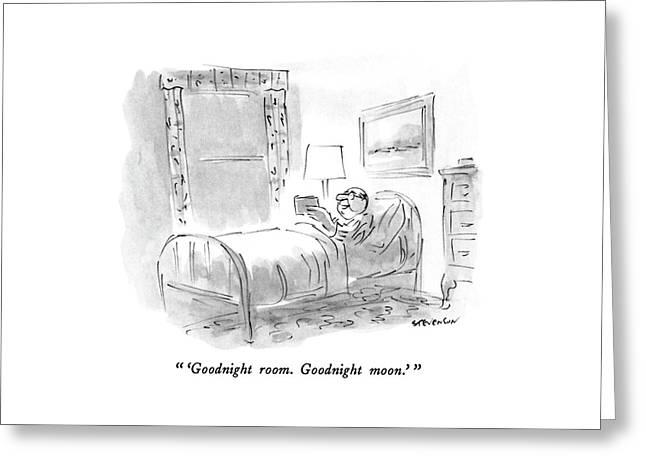 'goodnight Room. Goodnight Moon.' Greeting Card