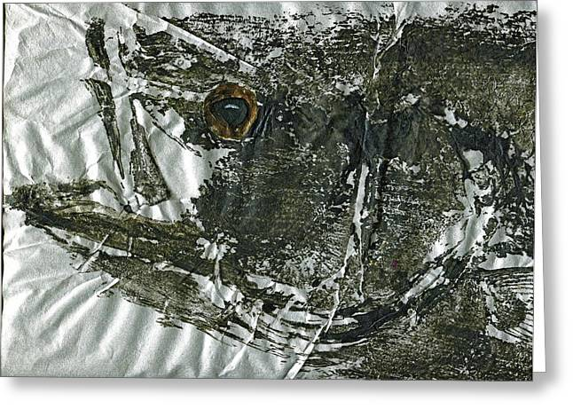 Gyotaku - Striped Bass - Striper Chase Greeting Card