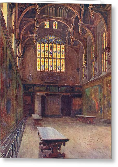 Hampton Court The Great Hall Greeting Card by Mary Evans Picture Library