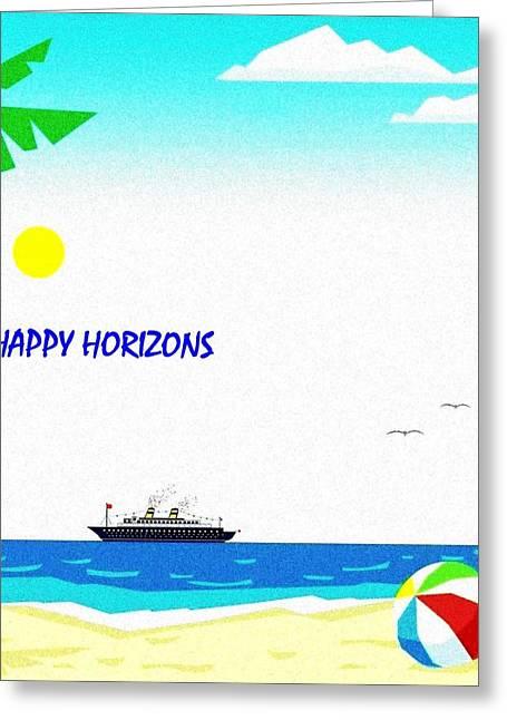 Happy Horizons Greeting Card