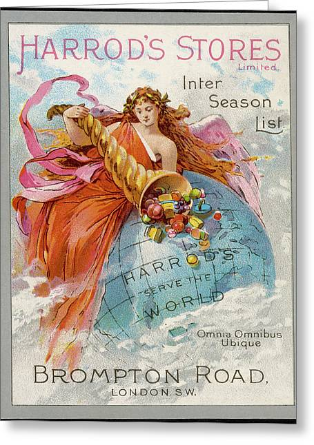Harrod's Stores - Serving The World Greeting Card