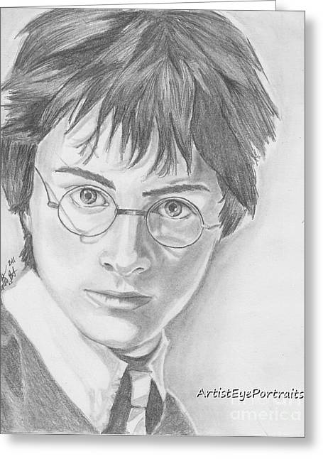 Harry Potter Greeting Card by Nathaniel Bostrom