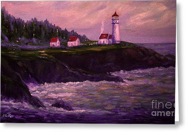 Heceta Head Lighthouse At Dawn's Early Light Greeting Card