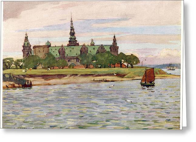 Helsingor  Kronborg Castle        Date Greeting Card by Mary Evans Picture Library