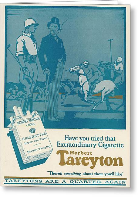 Herbert Tareyton Cigarettes - There's Greeting Card by Mary Evans Picture Library