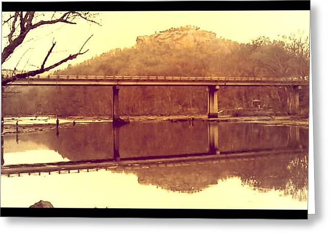 .  Highway 110 Bridge Near Heber Springs Arkansas Greeting Card