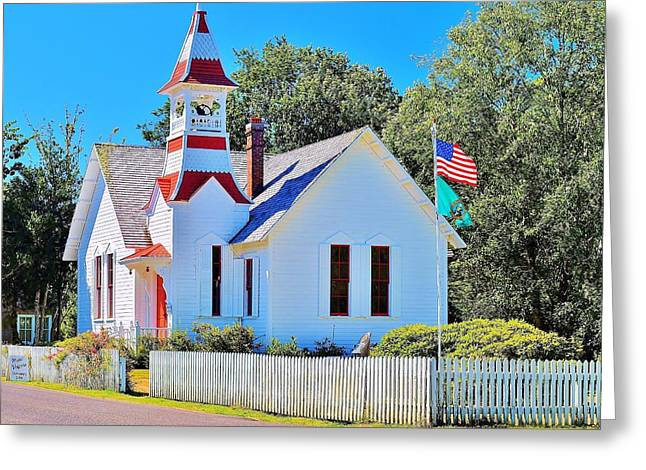 Historic Oysterville Church Greeting Card