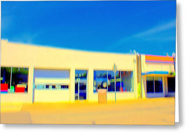 Hopper Garage Greeting Card by Terence Morrissey