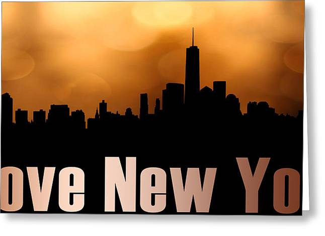 I Love New York Greeting Card by Tommytechno Sweden
