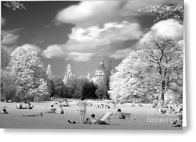 In The Park Greeting Card by Odon Czintos