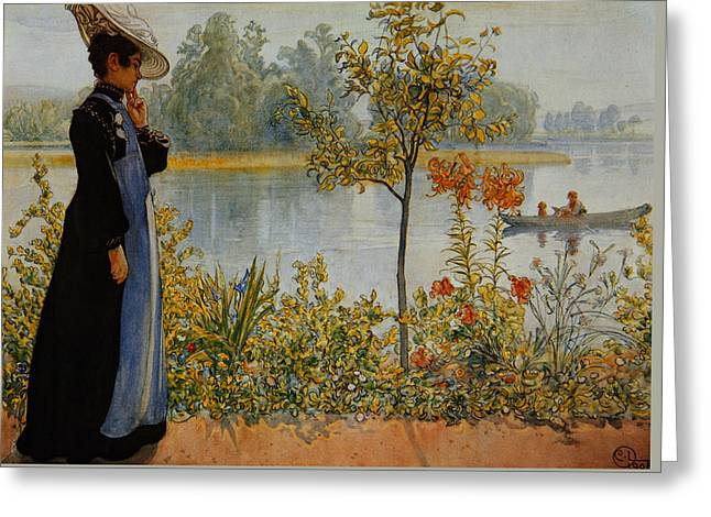 Indian Summer Greeting Card by Carl Larsson