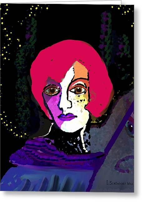 Jeanne - 924 Greeting Card by Irmgard Schoendorf Welch