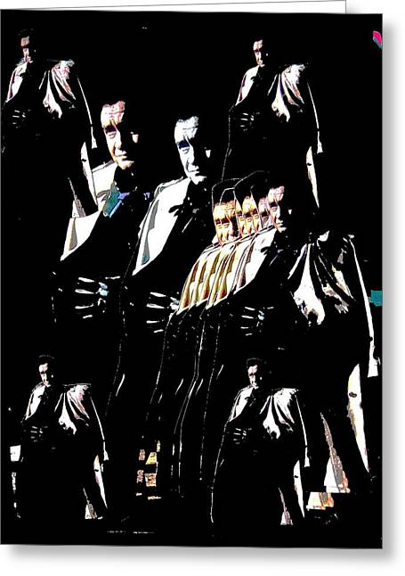 Greeting Card featuring the photograph  Johnny Cash Multiplied  by David Lee Guss