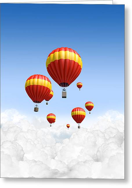 Joy Above The Clouds Greeting Card by Allan Swart