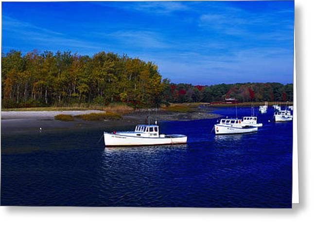 Kennnepunkport Harbor  Maine  Greeting Card