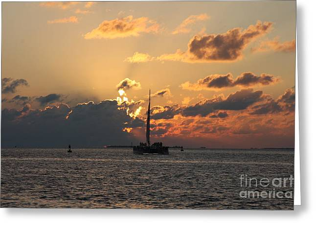 Marelous Key West Sunset Greeting Card by Christiane Schulze Art And Photography