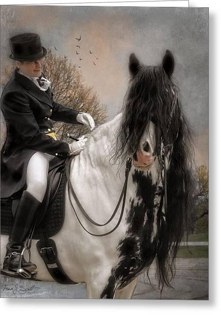 Drum Horse Dressage Greeting Card