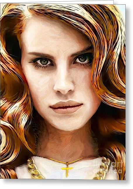 Lana Del Rey Collage C Digital Art by Andre Drauflos