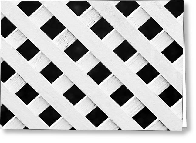 Lattice Fence Pattern Greeting Card