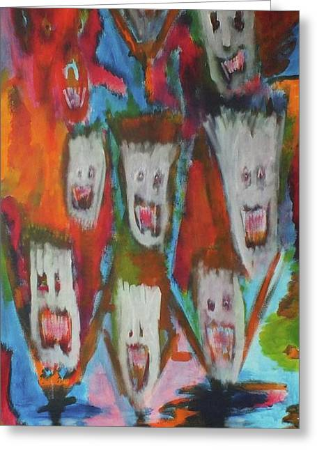 Laughter Greeting Card by Randall Ciotti