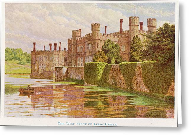 Leeds Castle, Kent         Date 1907 Greeting Card by Mary Evans Picture Library