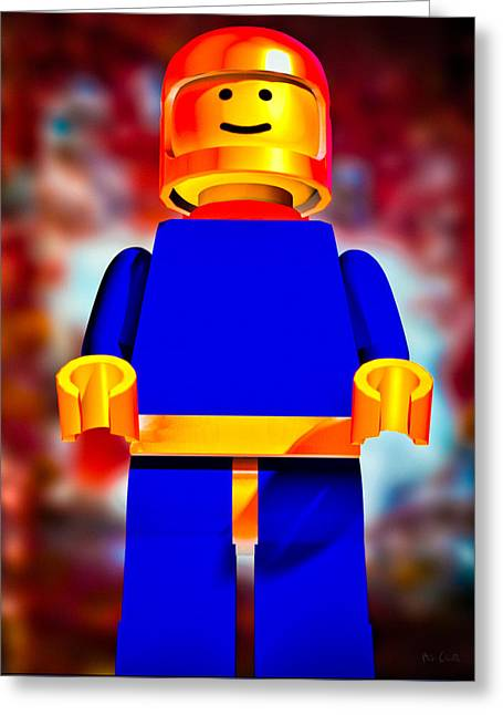 Lego Spaceman Greeting Card