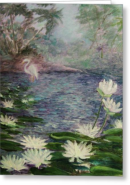Lilies  Of  The  Pond Greeting Card