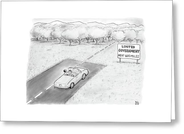 Limited Government Greeting Card by Paul Noth