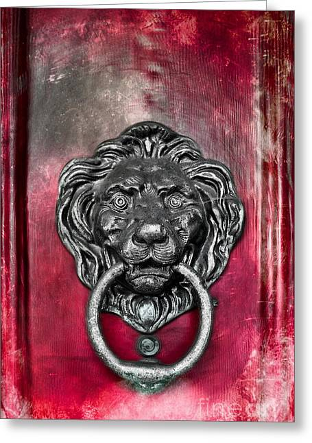 Lion's Head Door Knocker Greeting Card