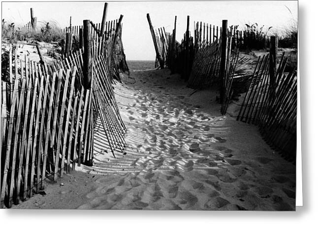 Long Beach Island Nj 1977 - Black/white Greeting Card by Jacqueline M Lewis