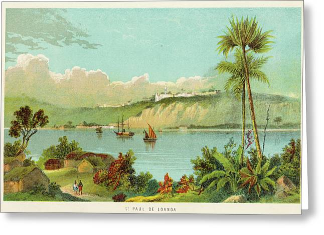 Luanda (sao Paolo De Loanda)  General Greeting Card by Mary Evans Picture Library