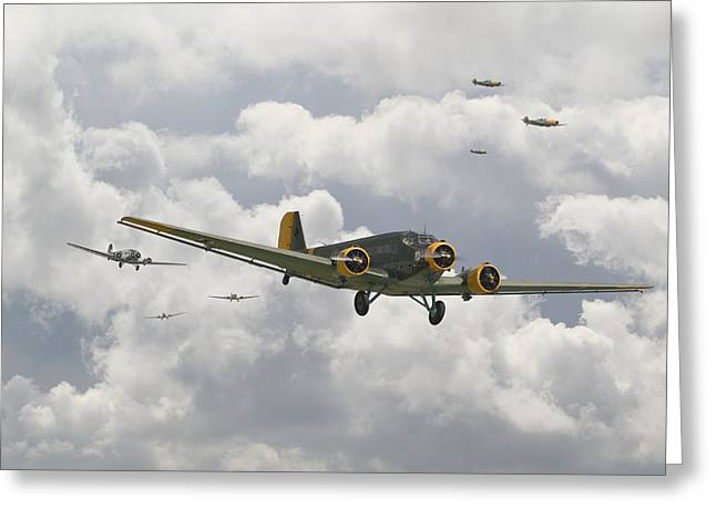 Luftwaffe Ju52  - Stalingrad Greeting Card by Pat Speirs