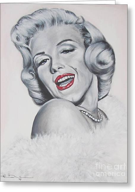 Marilyn Monroe Greeting Card by Eric Dee