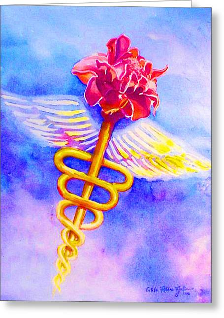 Medical Angel  Greeting Card by Estela Robles