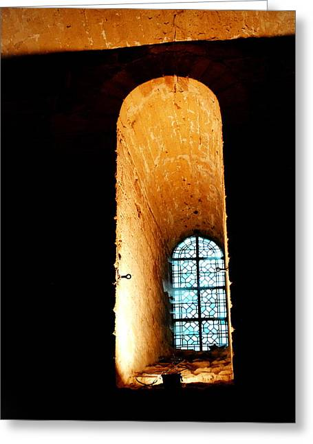 Meditation - Deep Window Mont St Michel Greeting Card by Jacqueline M Lewis