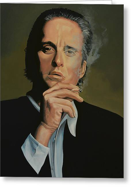 Michael Douglas Greeting Card by Paul Meijering