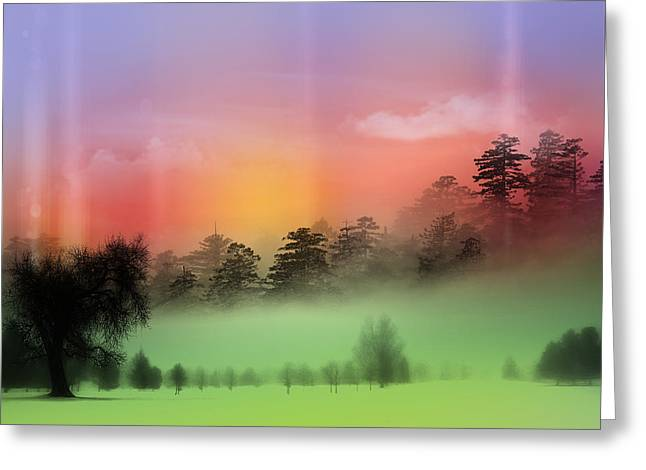 Mist Coloring Day Greeting Card