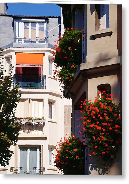 Montmartre Apartment Greeting Card by Jacqueline M Lewis