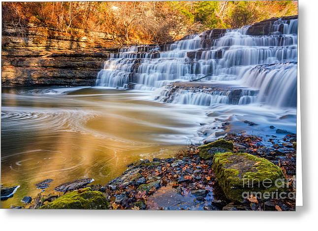 Morning Light Upper Burgess Falls Greeting Card