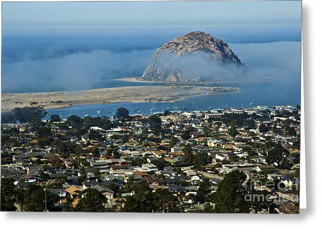 Morro Rock At Morro Bay 4 Greeting Card by Micah May